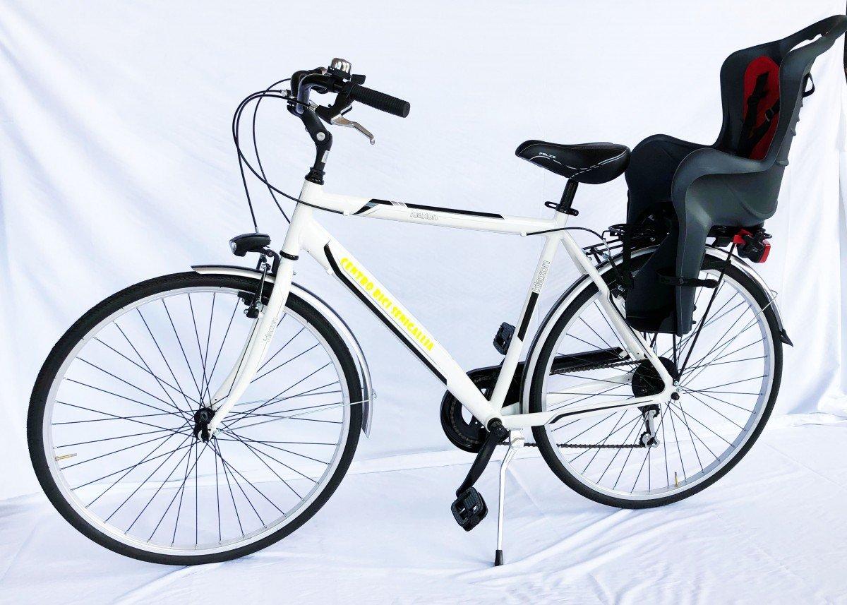 City Bike da Uomo con Seggiolino