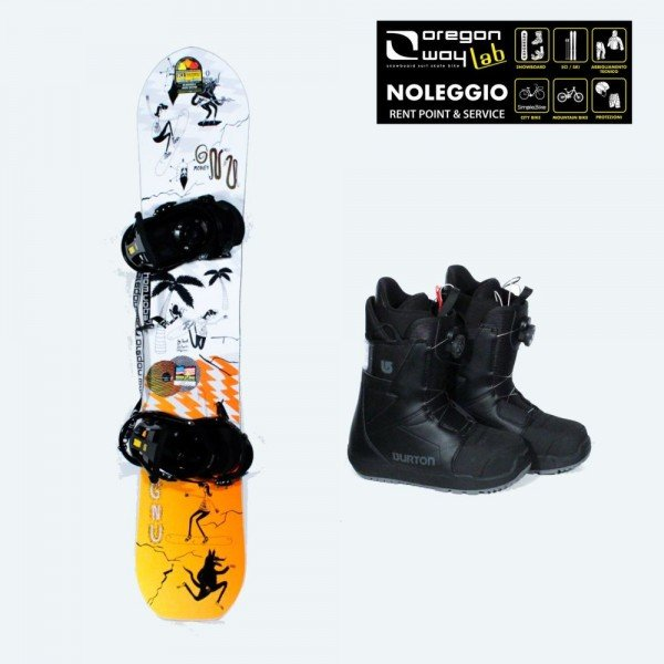 Kit Snowboard Completo Uomo Mid